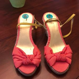 NEW J. Crew colorful wedges
